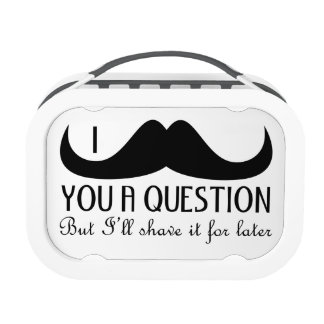 Trendy and cool I mustache you a question Lunchboxes