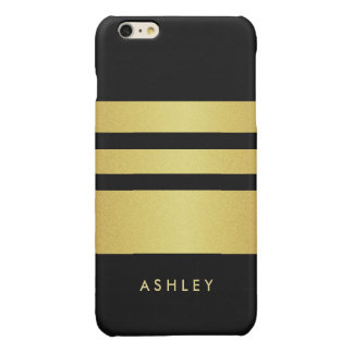 Trendy and Fashion - Black Gold Glitter Stripes