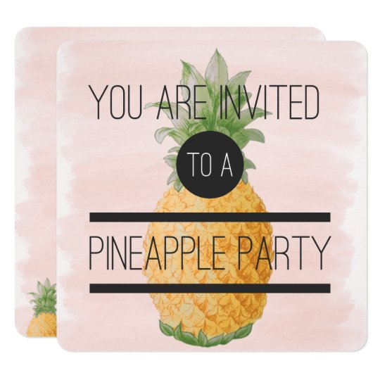 Trendy and fun Pineapple Party Card