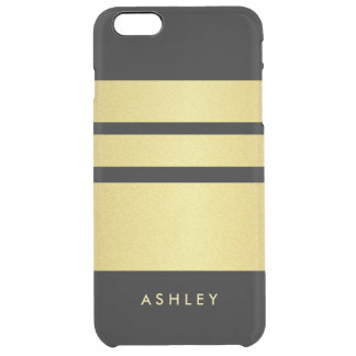 Trendy and Luxury - Black Gold Glitter Stripes