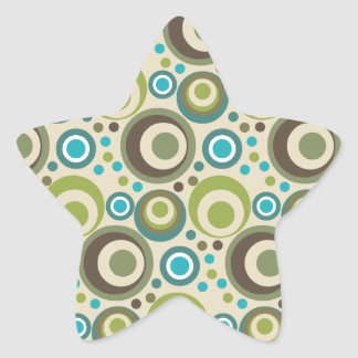 Trendy and Modern Circle Pattern Star Sticker