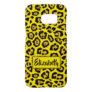 Trendy Animal Pattern with Name Yellow