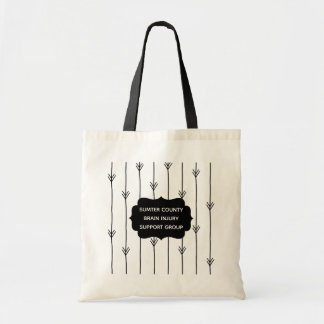 Trendy Arrows Custom Brain Injury Support Group Tote Bag