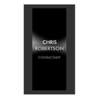 Trendy Attractive Black Grey Business Card
