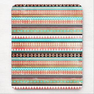 Trendy aztec mouse pad