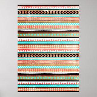 Trendy aztec poster