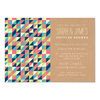 Trendy Aztec Triangles Couples Shower Party Invite