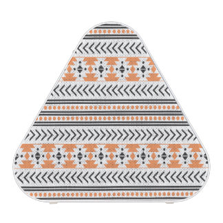 Trendy Aztec Tribal Print Geometric Pattern Orange