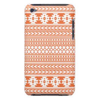 Trendy Aztec Tribal Print Geometric Pattern Orange iPod Touch Cases