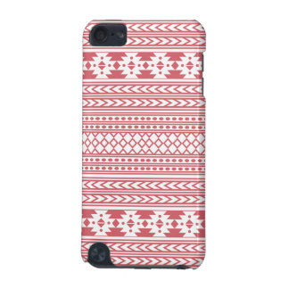 Trendy Aztec Tribal Print Geometric Pattern(Pink) iPod Touch (5th Generation) Cover