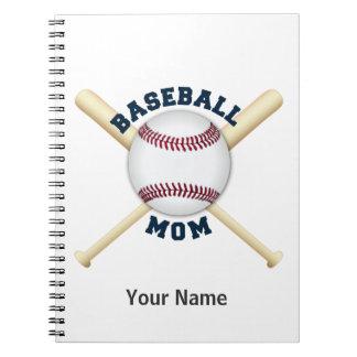 Trendy baseball mom spiral note books