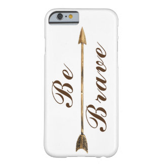 Trendy Be Brave Gold Boho Arrow Barely There iPhone 6 Case