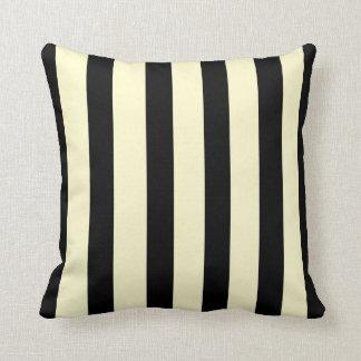 Trendy Black and Cream >SquareThrow Pillow