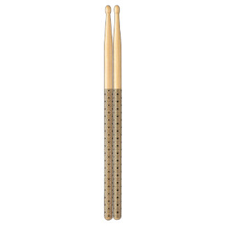 Trendy Black And White Geometric Tribal Pattern Drumsticks