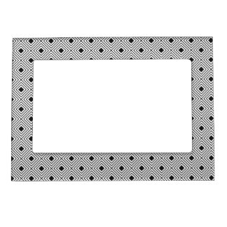 Trendy Black And White Geometric Tribal Pattern Magnetic Picture Frame
