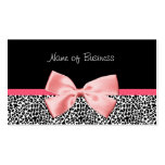 Trendy Black And White Leopard Print Pink Ribbon