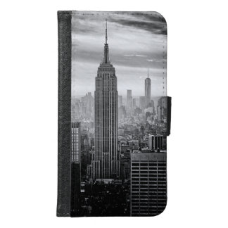Trendy black and white New York Design Samsung Galaxy S6 Wallet Case