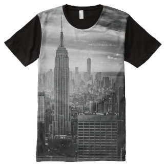 Trendy Black and white New York Shirt