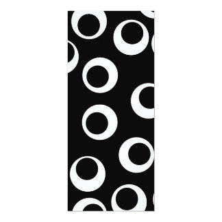 Trendy black and white retro design. custom invites