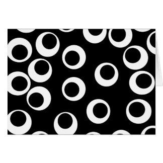 Trendy black and white retro design. note card