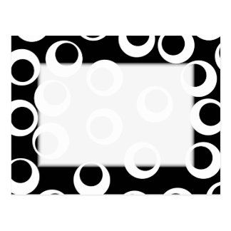 Trendy black and white retro design. postcard