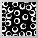 Trendy black and white retro design. poster
