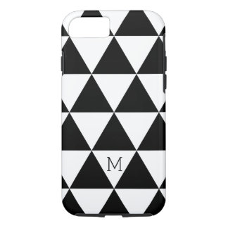 Trendy Black And White Triangles Pattern iPhone 7 Case