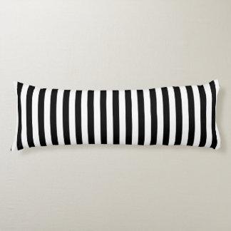 Trendy Black and White Wide Horizontal Stripes Body Cushion