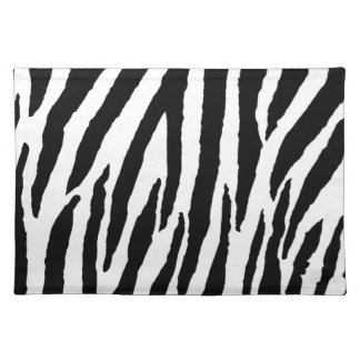 Trendy Black And White Zebra Pattern Placemat