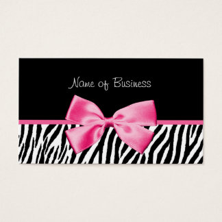 Trendy Black And White Zebra Print Pink Ribbon