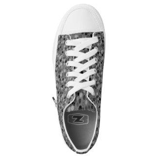 Trendy black grey zip Low Tops