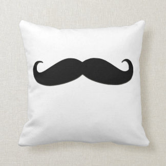 Trendy Black Moustache American MoJo Pillow