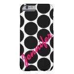 Trendy Black Polka Dot Pattern iPhone 6 case