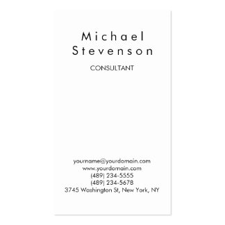 Trendy Black White Attractive Charm Business Card