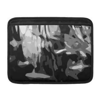 Trendy Black White Gray Abstract Pattern Sleeve For MacBook Air