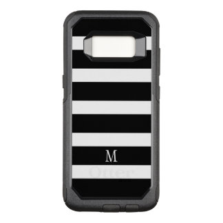 Trendy Black & White Stripes Geometric Pattern OtterBox Commuter Samsung Galaxy S8 Case