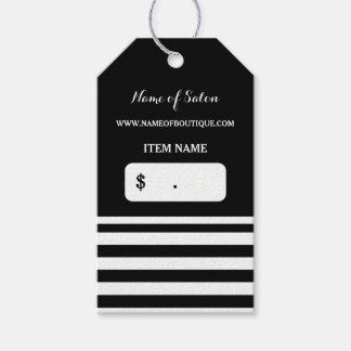 Trendy Black White Stripes Hair Salon Price Tags