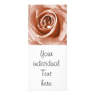 trendy bling on rose,soft peach (I) Full Colour Rack Card