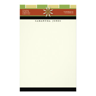 Trendy Bliss Green Apple Customized Stationery