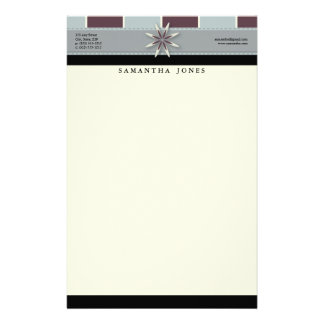 Trendy Bliss Lavender Blue Customized Stationery