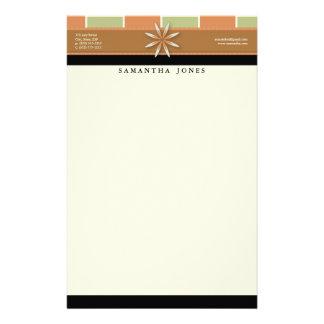 Trendy Bliss Terra Cotta Customized Stationery