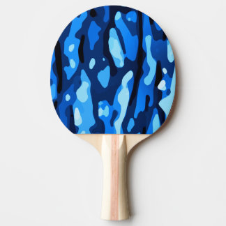 Trendy Blue Camo Abstract Pattern