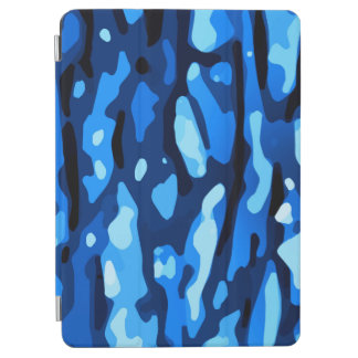 Trendy Blue Camo Abstract Pattern iPad Air Cover