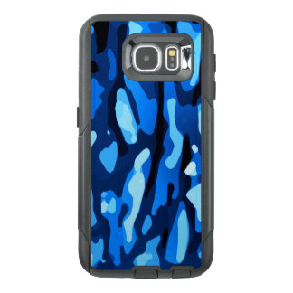 Trendy Blue Camo Abstract Pattern OtterBox Samsung Galaxy S6 Case