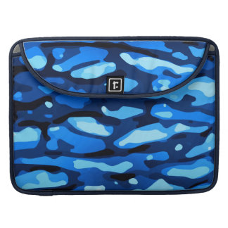 Trendy Blue Camo Abstract Pattern Sleeve For MacBooks
