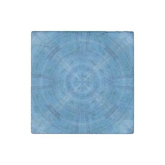 Trendy Blue Circle Pattern Stone Magnet