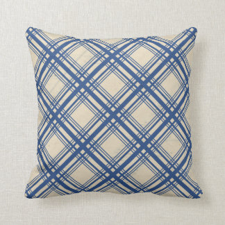 Trendy Blue Plaid Tartan Design Accessory Cushion