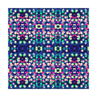 Trendy Bokeh Christmas Lights Funk Hipster Pattern Stretched Canvas Prints