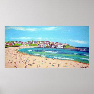 Trendy Bondi  -Abstract, beach wall-art painting Posters