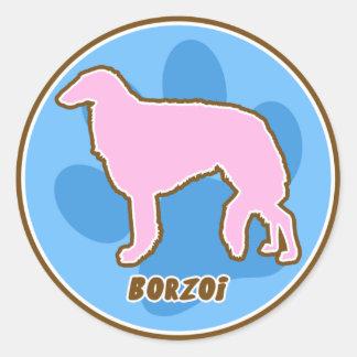 Trendy Borzoi Stickers